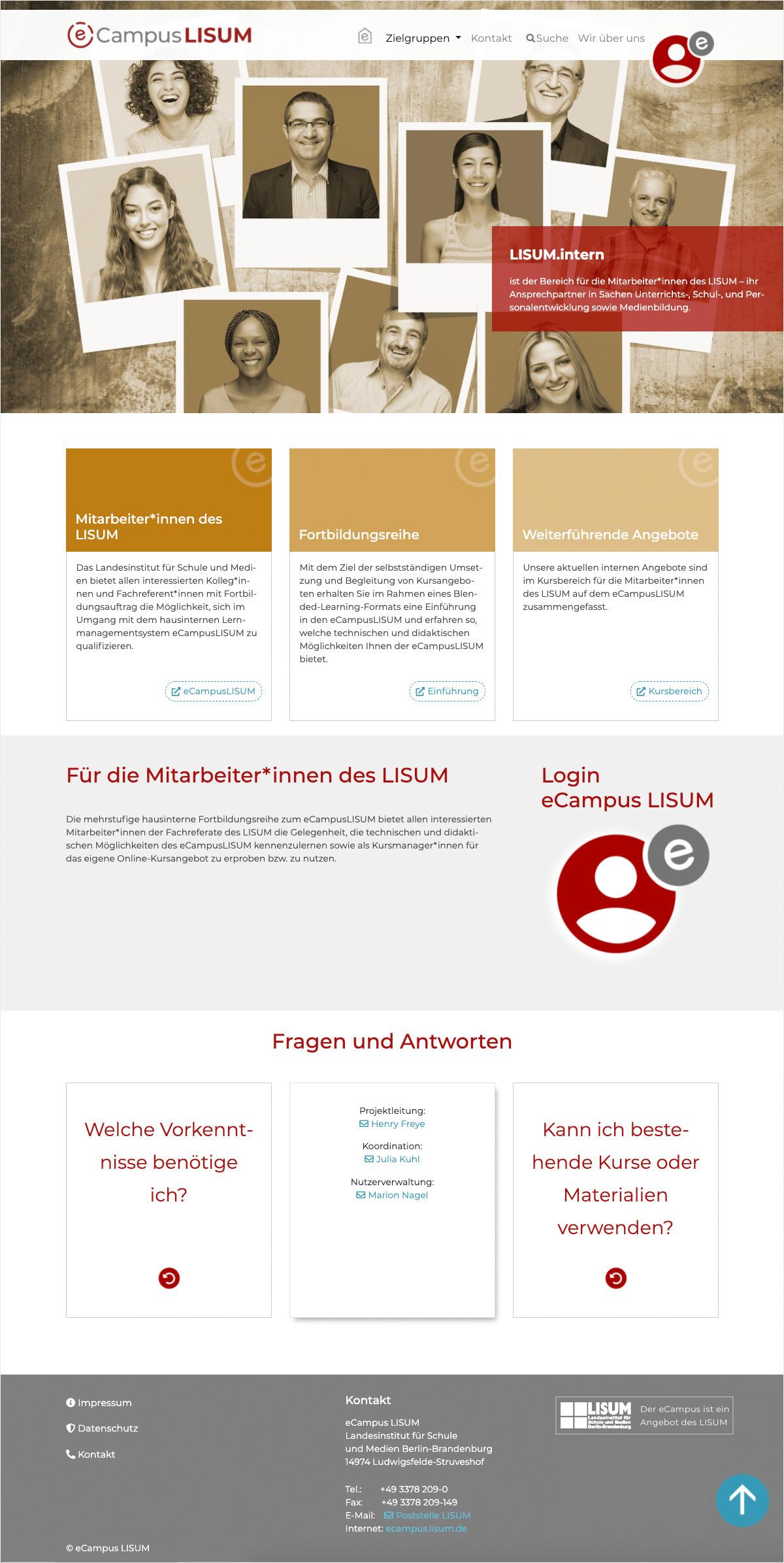 eCampus LISUM - intern