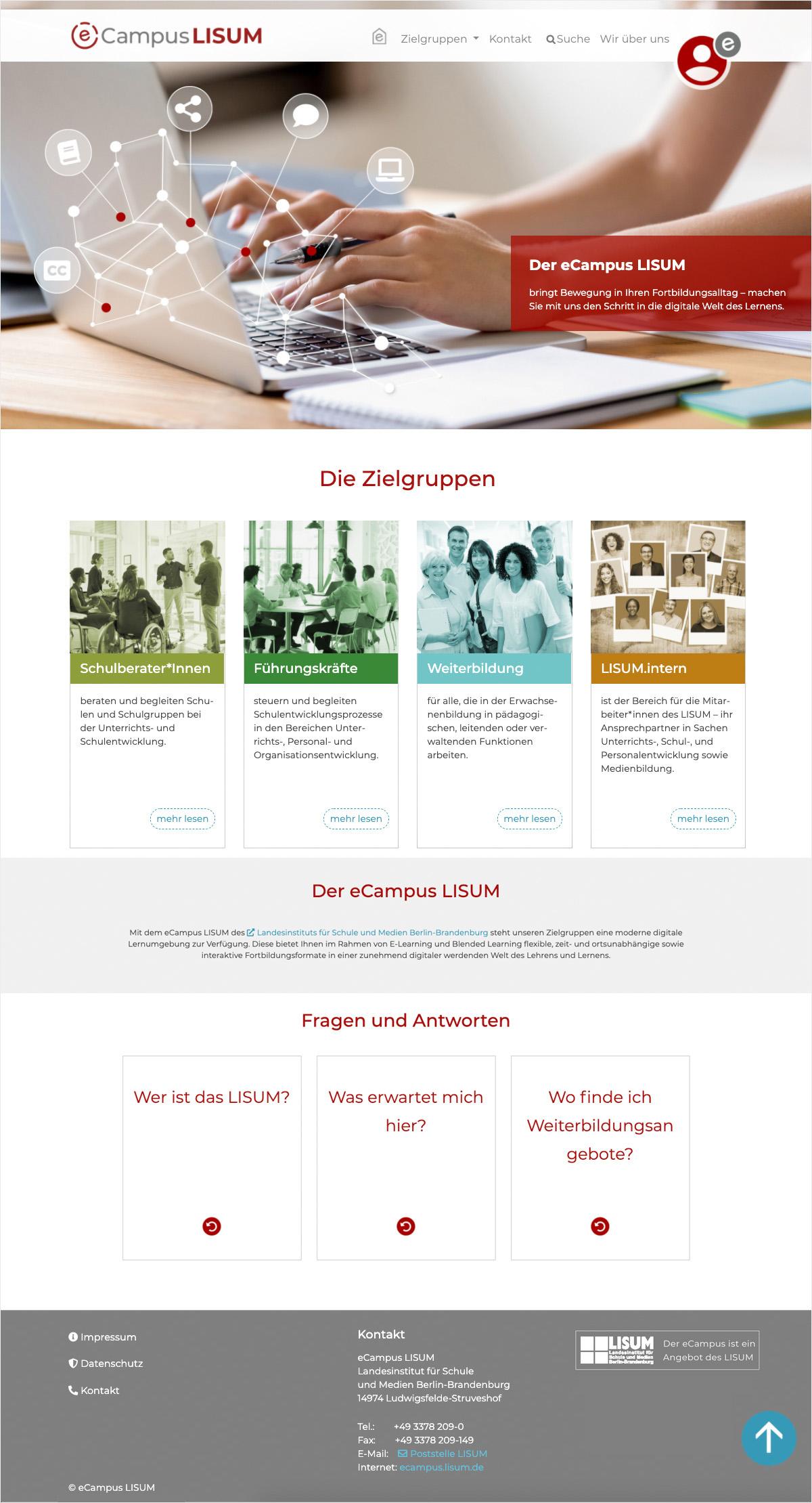 eCampus LISUM Startseite