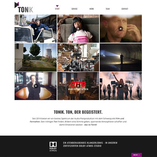Tonik Studio Website